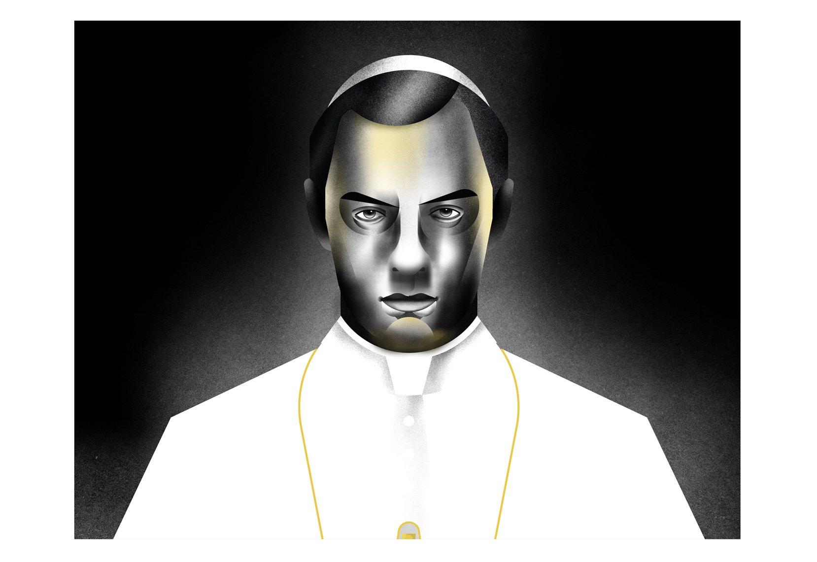 Sorrentino-illustration-youngpope-alice-iuri