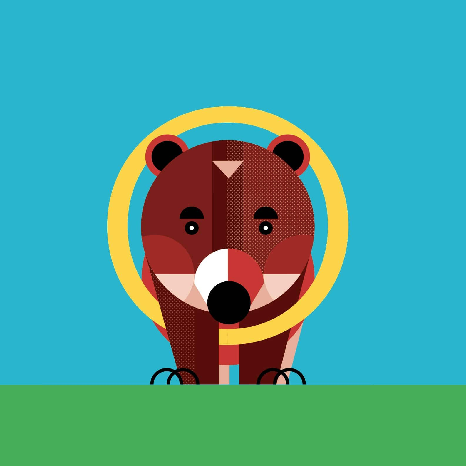 alice-iuri-poster-animal-bear-illustration