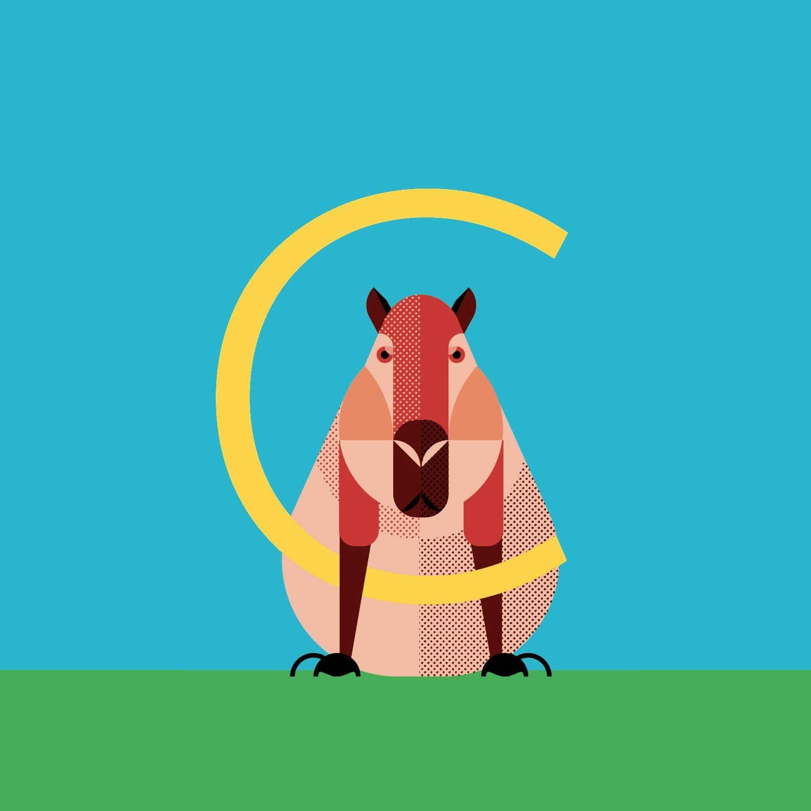 alice-iuri-poster-animal-capibara-illustration