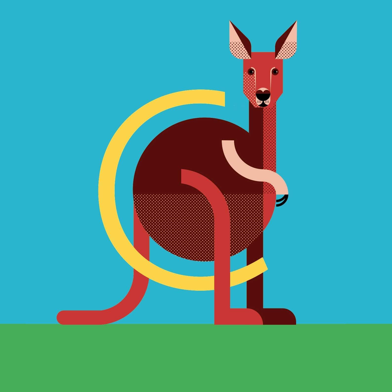 alice-iuri-poster-animal-kangaroo-illustration