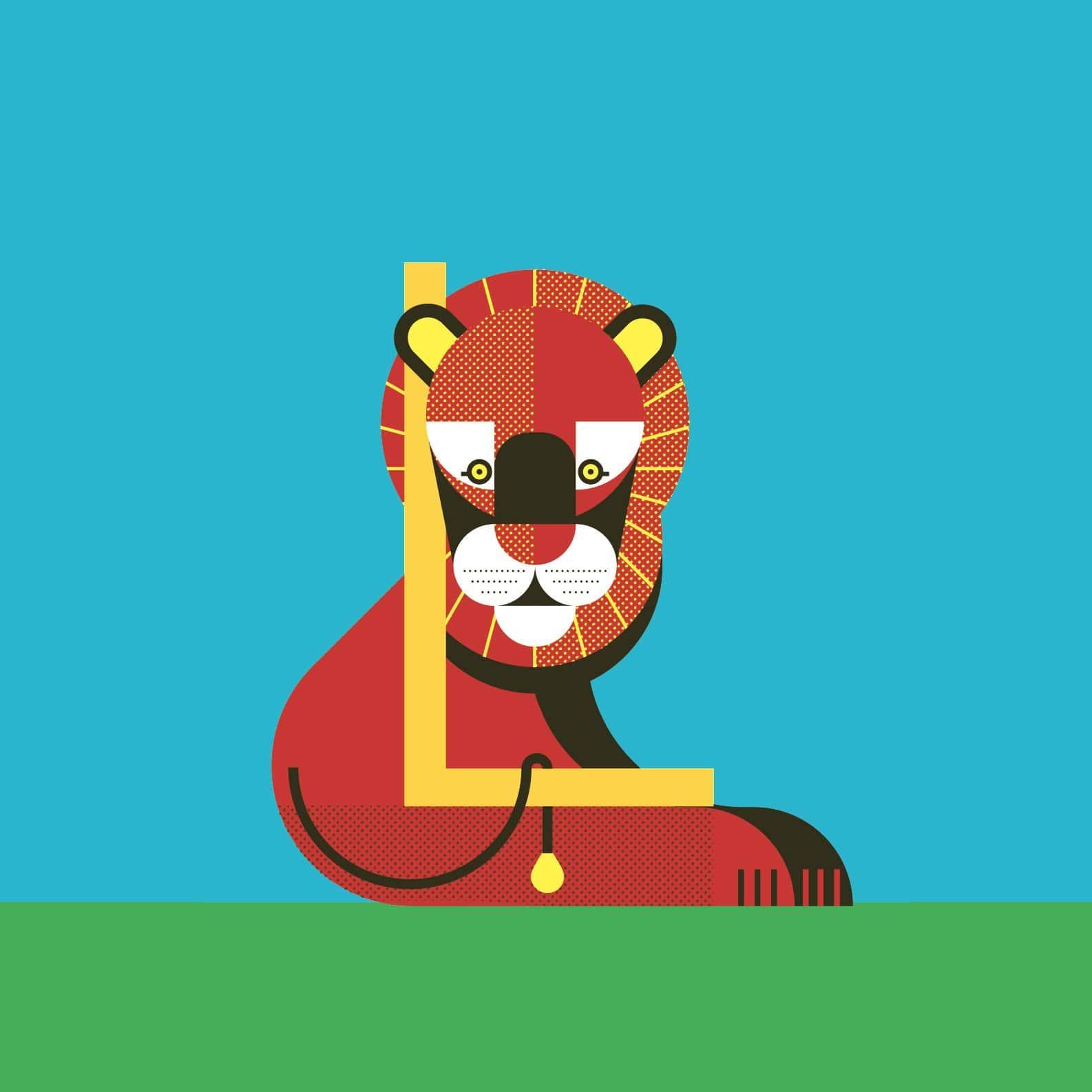 alice-iuri-poster-animal-lion-illustration
